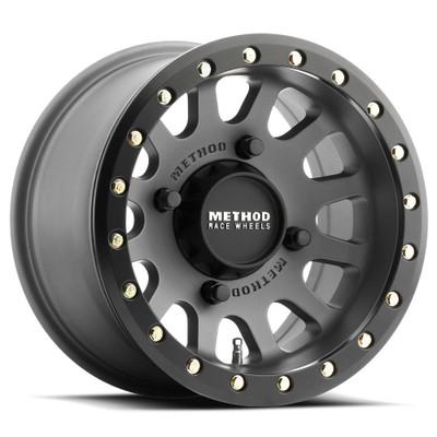 Method Race Wheels 401 UTV Beadlock 15x6 4x156 53mm Titanium MR40156046851B