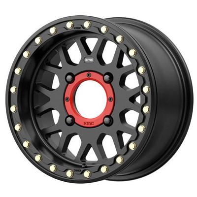 KMC Wheels KS235 Grenade Beadlock UTV Wheel 15x7 4X156 10 Satin Black KS23557044710