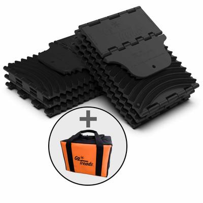 GoTreads Pair Black w/ Carrying Case GT9-BUNDLE-BLK