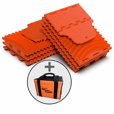 GoTreads Pair Orange w/ Carrying Case GT9-BUNDLE-ORG