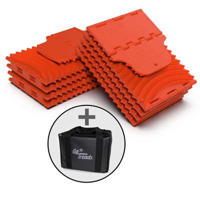 GoTreads XL Pair Orange w/ Carrying Case GT9XL-BUNDLE-ORG