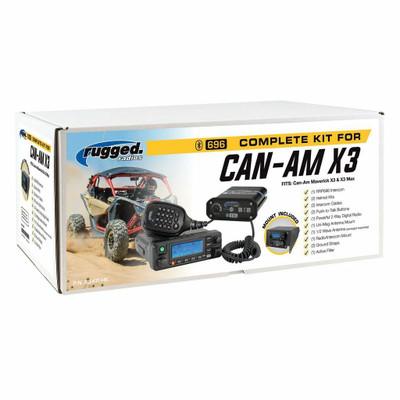 Rugged Radios Can-Am X3 Complete UTV Communication Kit w/ Top Mount w/ AlphaBass Headset X3-KIT-H28