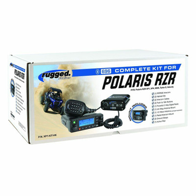 Rugged Radios Polaris RZR XP 1000/Turbo Complete UTV Communication Kit w/ BTU Headset XP1-KIT-BTU
