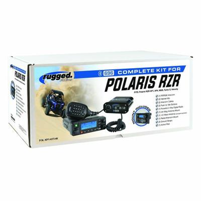 Rugged Radios Polaris RZR XP 1000/Turbo Complete UTV Communication Kit w/ AlphaBass Headset XP1-KIT-H28