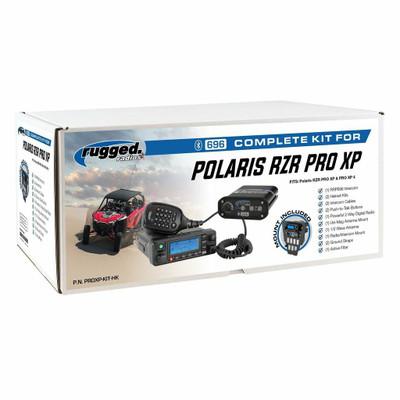 Rugged Radios Polaris Pro XP Complete UTV Communication Kit w/ AlphaBass Headset PROXP-KIT-H28