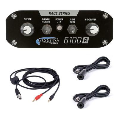 Rugged Radios RRP6100 Peltor Rally Intercom Kit 6100-2P-RALLY