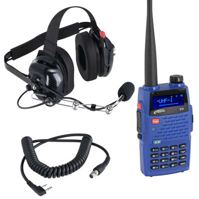 Rugged Radios Crew Chief / Spotter Headset and Radio Package CREW-V3
