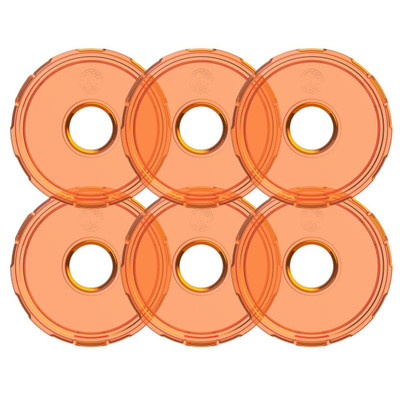 KC HiLiTES Cyclone V2 LED Replacement Lens Amber 6 Pack 4412