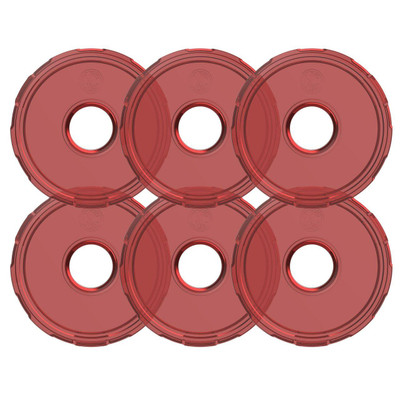 KC HiLiTES Cyclone V2 LED Replacement Lens Red 6 Pack 4413