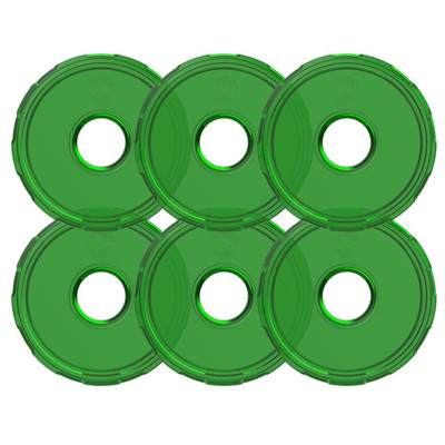 KC HiLiTES Cyclone V2 LED Replacement Lens Green 6 Pack 4415