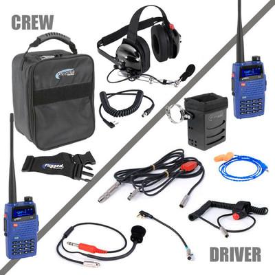 Rugged Radios NASCAR Single Seat Kit w/ V3 Handheld Radio NASCAR-SS-V3