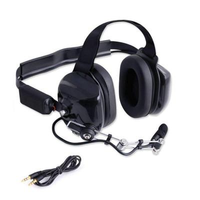 Rugged Radios H80 Double Talk Linkable Intercom Headset H80-BLK