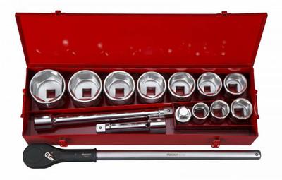 BOXO USA 15-Piece Metric 1 Drive 6-Point Socket Set BXM371