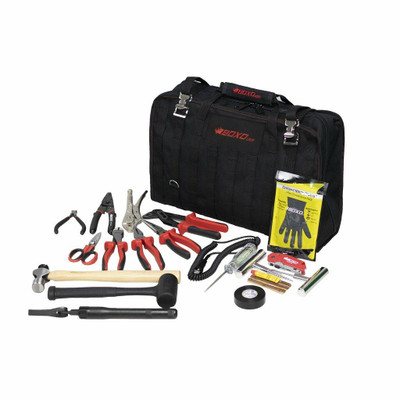 BOXO USA Tool Bag with Tool Roll with Folding Mechanic Mat PA916-FMM