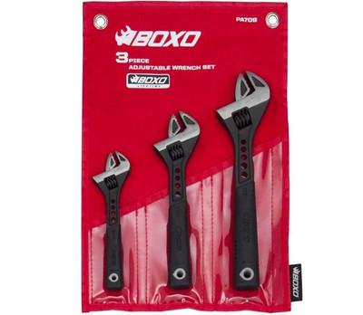 BOXO USA 3 pc Adjustable Wrench Set PA709