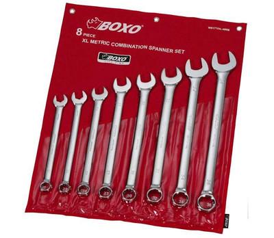 BOXO USA 8-Piece Metric XL Combination Wrench Set WR1712XL-08RB