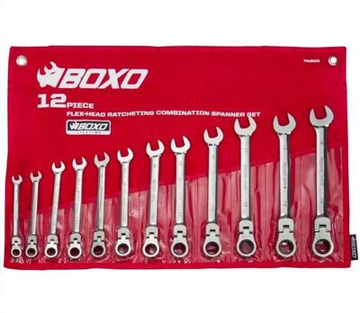BOXO USA 12 PC Flex-Head Ratcheting Wrench Set PA603