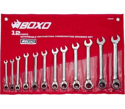 BOXO USA 12 PC Reversible Ratcheting Wrench Set PA602
