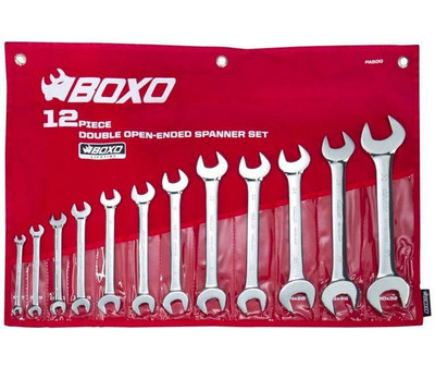 BOXO USA 12-Piece Metric Double Open-Ended Wrench Set PA500