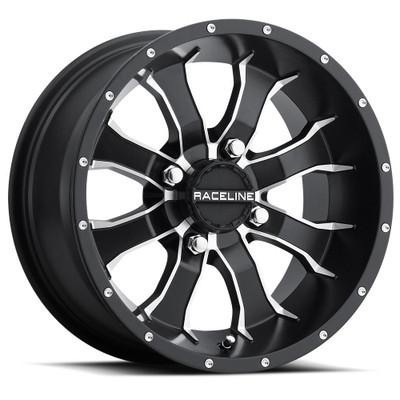 Raceline Wheels A77 Mamba UTV Wheel 9X8 -35 4X110 Black A7798011-35