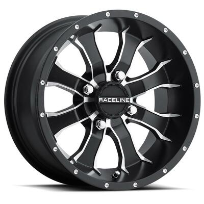 Raceline Wheels A77 Mamba UTV Wheel 10X5 -18 4X110 Black A7710511-32