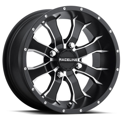 Raceline Wheels A77 Mamba UTV Wheel 14X7 10 4X137 Black A7747037-T-52