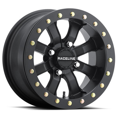 Raceline Wheels A71B Black Mamba UTV Beadlock Wheel 15X7 0 4X110 Black A71B-57011-00