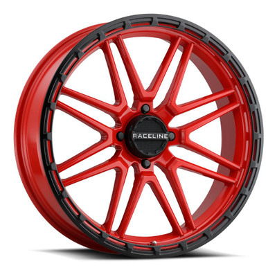 Raceline Wheels A11R Krank XL UTV Wheel 22X7 0 4X137 Red A11R-22737-00