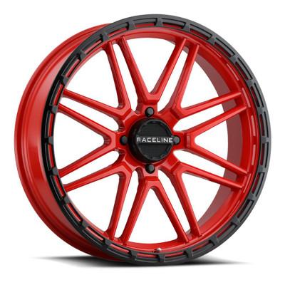 Raceline Wheels A11R Krank XL UTV Wheel 22X7 0 4X156 Red A11R-22756-00