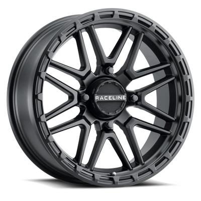 Raceline Wheels A11B Krank XL UTV Wheel 18X7 0 4X137 Black A11B-87037-00