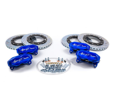 Agency Power Can-Am Maverick X3 Big Brake Kit Front and Rear Blue AP-BRP-X3-460-BLU