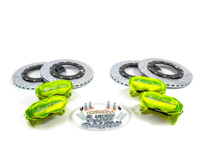Agency Power Can-Am Maverick X3 Big Brake Kit Front and Rear Monster Green AP-BRP-X3-460-GRN