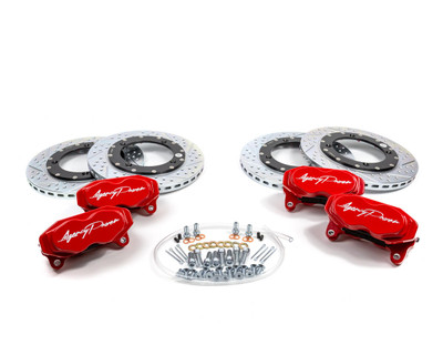 Agency Power Can-Am Maverick X3 Big Brake Kit Front and Rear Red AP-BRP-X3-460-RD