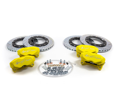 Agency Power Can-Am Maverick X3 Big Brake Kit Front and Rear Yellow AP-BRP-X3-460-YLW
