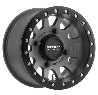 Method Race Wheels MR401 UTV Beadlock 15x6 51 4x136 Titanium MR40156047851B