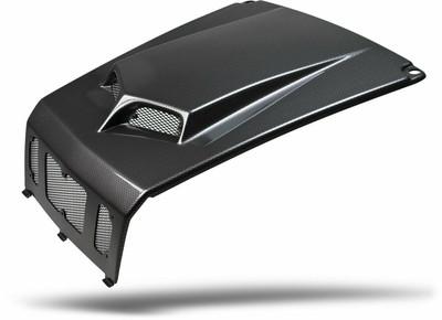 Maier Powersports Polaris RZR 800 Scooped Hood Black Carbon Fiber 19471-30