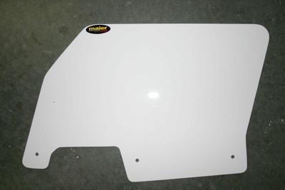 Maier Powersports Polaris RZR Rear Number Plates White 194651
