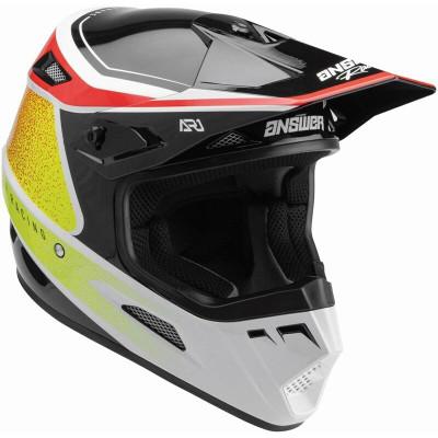 Answer Racing A22 AR1 Vivid Helmet Red/White/Hyper Acid 446271