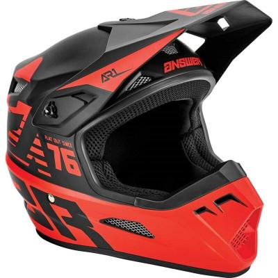Answer Racing A22 AR1 Bold Helmet Black/Red 445998
