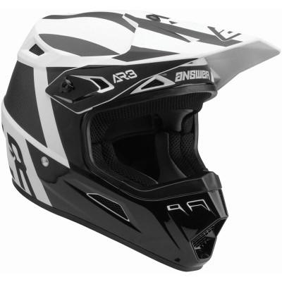 Answer Racing A22 AR3 Phantom Helmet Black/White 446301