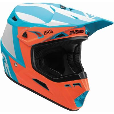 Answer Racing A22 AR3 Phantom Helmet Flo Red/Astana Blue 446314