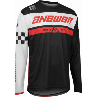 Answer Racing A22 Arkon Octane Mens Jersey Black/Red 446886