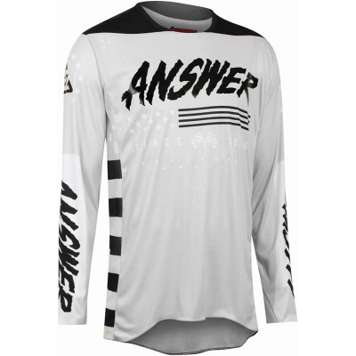 Answer Racing A22 Elite Redzone Mens Jersey Ghost Black 446942