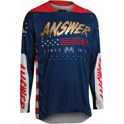 Answer Racing A22 Elite Redzone Mens Jersey Navy/Answer Red/White 446914