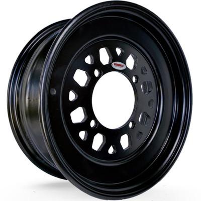 Muscle Race Wheels 626 Gunner Rolled Lip UTV Wheel 15x6 0mm 4X156.2 Black 76265641AS