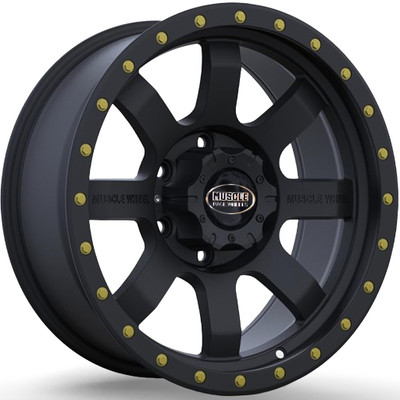 Muscle Race Wheels Flow Form Beadlock UTV Wheel 15x7 38mm 4X137 Black 3S1605741B
