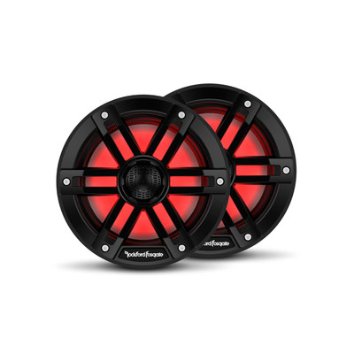 Rockford Fosgate M1 6.5 Color Optix Marine 2-Way Speakers Black M1-65B