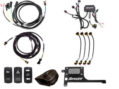 SuperATV Polaris RZR XP Turbo Plug and Play Turn Signal Kit TSK-P-RZRXPT-004