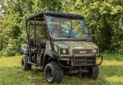 SuperATV Kawasaki Mule 4000 / 4100 Scratch Resistant Flip Windshield FWS-K-MULE-4010-70