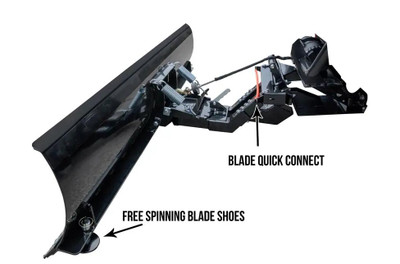 SuperATV Yamaha Wolverine Plow Pro Heavy Duty Snow Plow Kit SPM-Y-WV-K-72